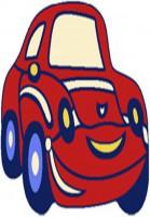 Детски килим Кола