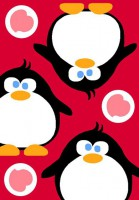 Детски килим Пингвини