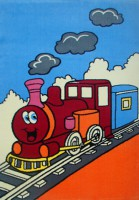 Детски килим Влак